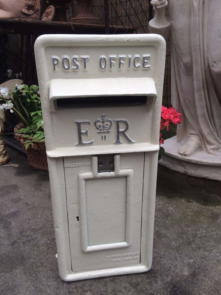 royal mail post box white wedding post box silver letters