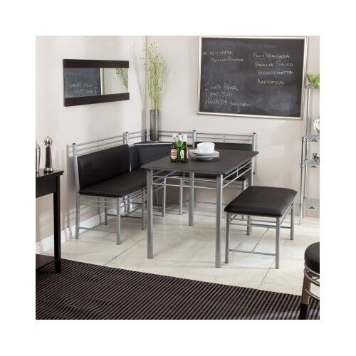 Kitchen Furniture Corner: Corner Dining Set 5PC Breakfast Nook Table Bench Chair