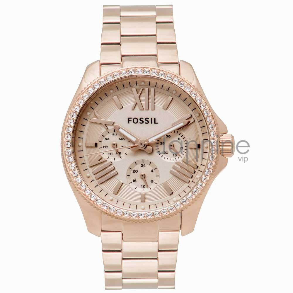 fossil authentic watch am4483 rose gold 40mm cecile stainless steel multifunct 796483009851 ebay. Black Bedroom Furniture Sets. Home Design Ideas