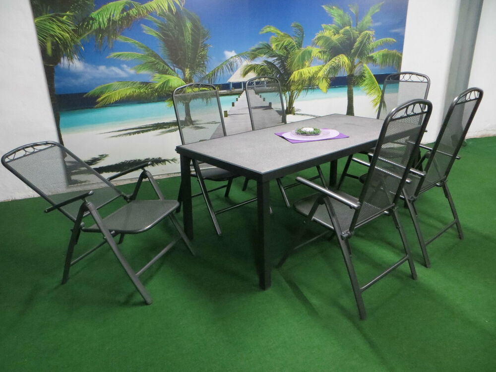 xl streckmetall gartenm bel set sitzgruppe garten garnitur wetterfest lounge p32 ebay. Black Bedroom Furniture Sets. Home Design Ideas