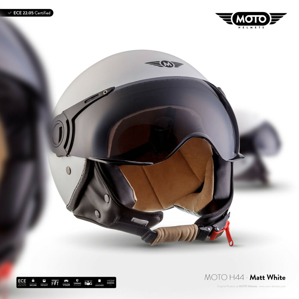 moto h44 matt w roller helm retro motorrad helm jet helm. Black Bedroom Furniture Sets. Home Design Ideas
