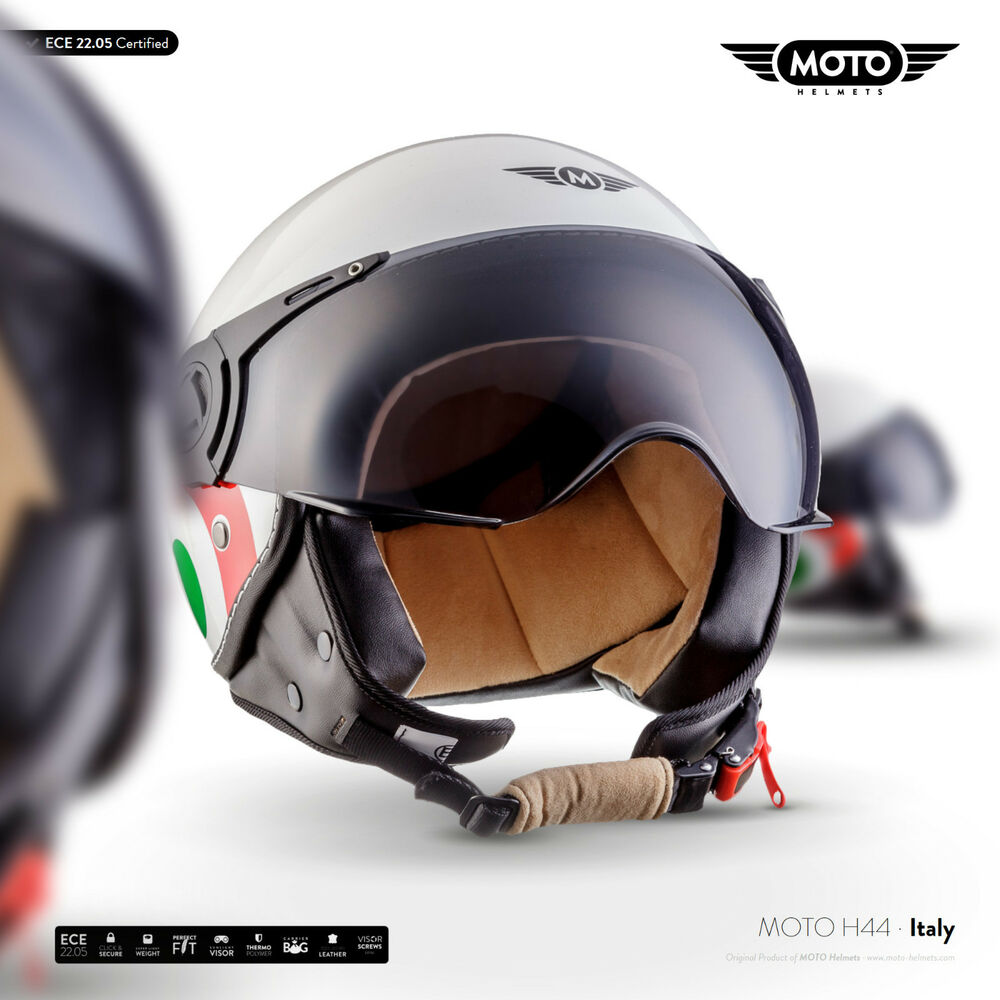moto h44 italy jet helm roller helm motorrad helm retro. Black Bedroom Furniture Sets. Home Design Ideas
