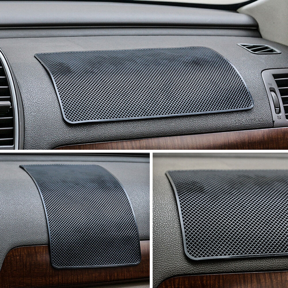 Car anti slip dashboard sticky pad non slip mat for phone coin sunglass holder d ebay - Notepad holder for car ...