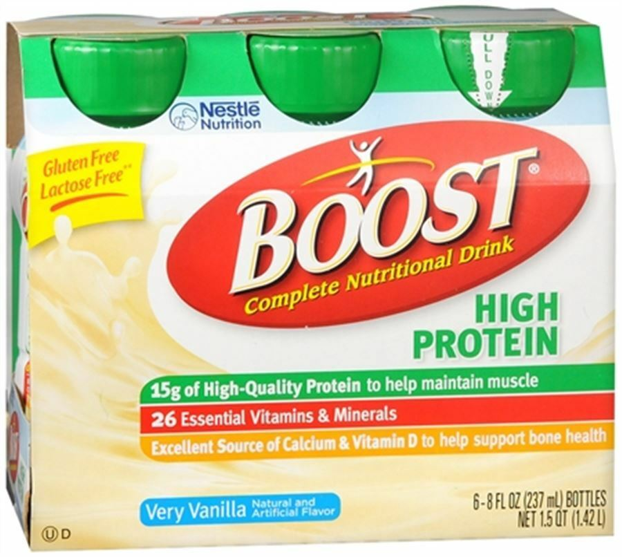Boost High Protein Energy Drink 8 Oz: BOOST High Protein Nutritional Energy Drinks Vanilla 48 Oz