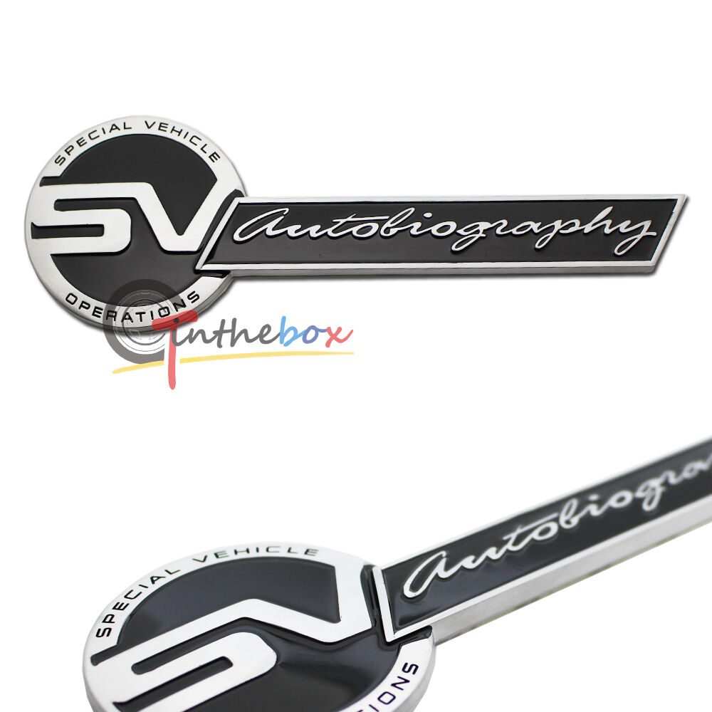 Landrover Discovery Side Stripe Decals Stickers Land Rover: 1PC Metal SV AUTOBIOGRAPHY Car Side Wing Emblem Sticker