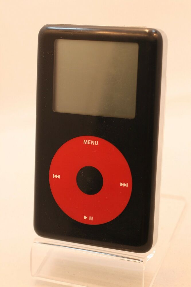 refurbished 20gb u2 edition black red apple ipod classic. Black Bedroom Furniture Sets. Home Design Ideas