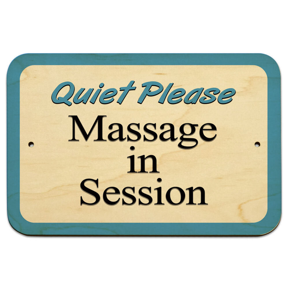 quiet please massage in session 9 x 6 wood sign ebay