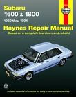 Subaru 1600 1800 Brat Loyale Haynes Repair Manual NEW Owners Book Service