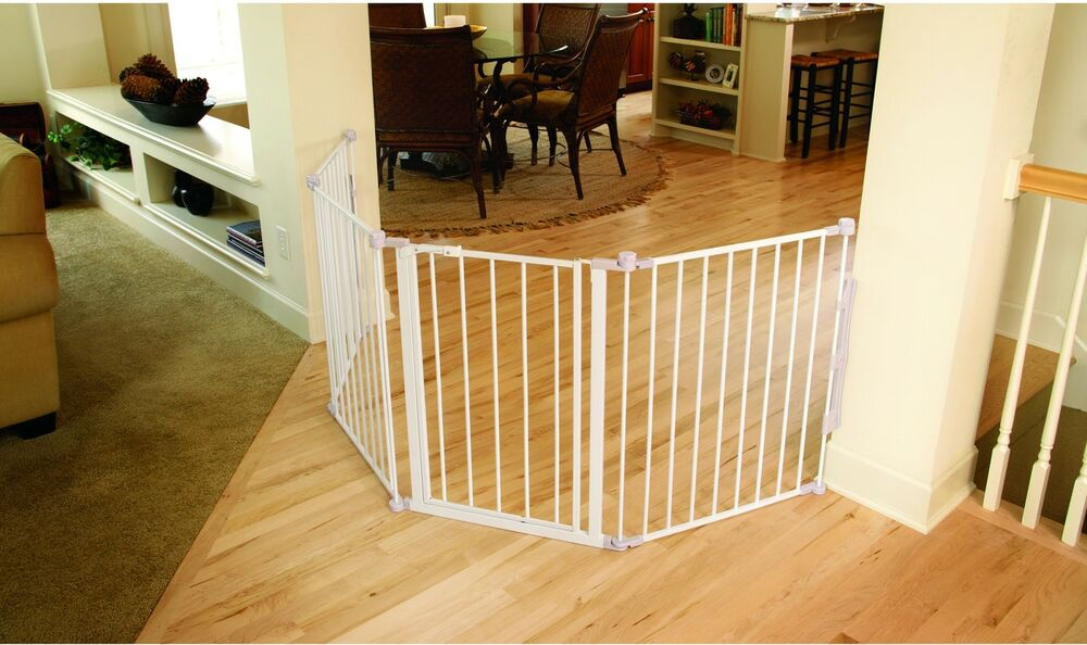 Wide Flexible Baby Gate Safety Large Opening Pet Barrier