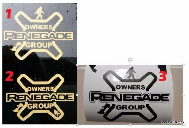 Jeep Renegade Owners Group Jrog Decal Sticker X Type Vinyl