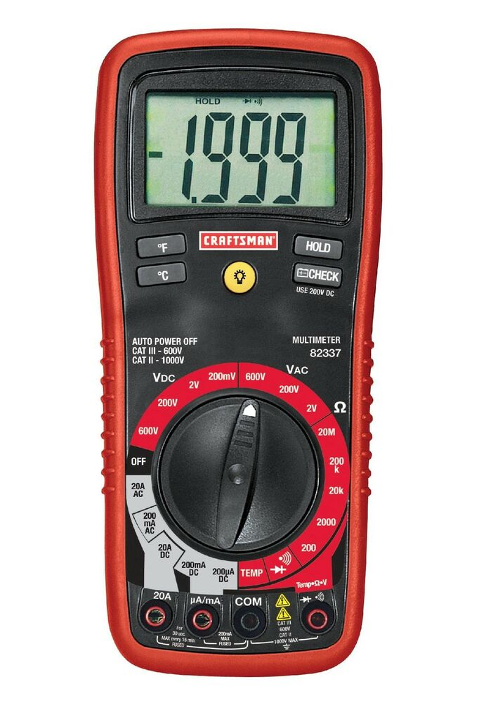 Craftsman Digital Multimeter : Craftsman digital multimeter with manual ranging