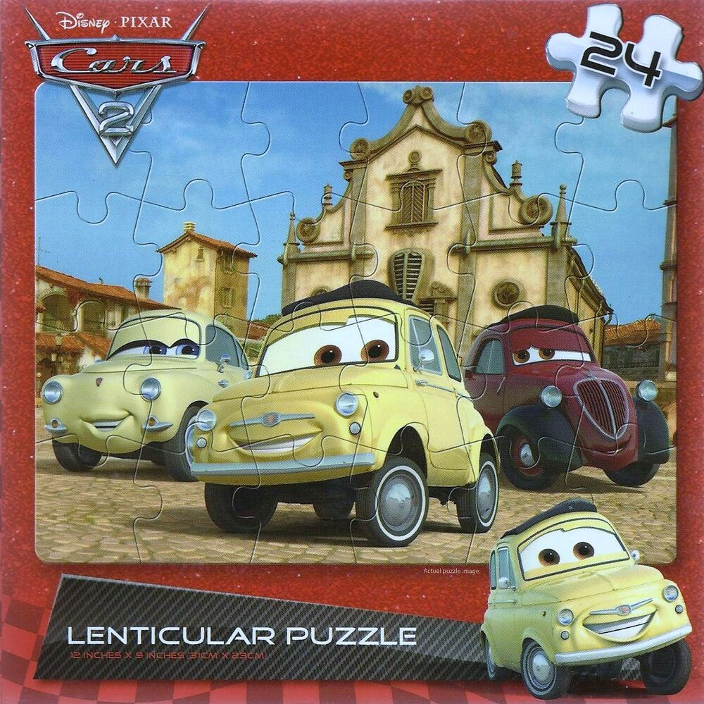 new disney cars 2 24 piece lenticular motion puzzle ebay. Black Bedroom Furniture Sets. Home Design Ideas