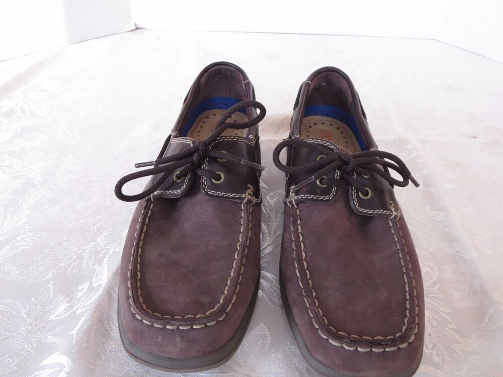 Nunn Bush Brown Leather Top Siders Boat Casual Fashion