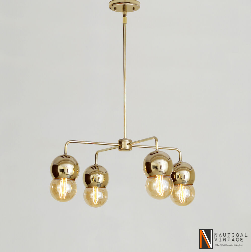 italian mid century ball globe chandelier modern brass. Black Bedroom Furniture Sets. Home Design Ideas