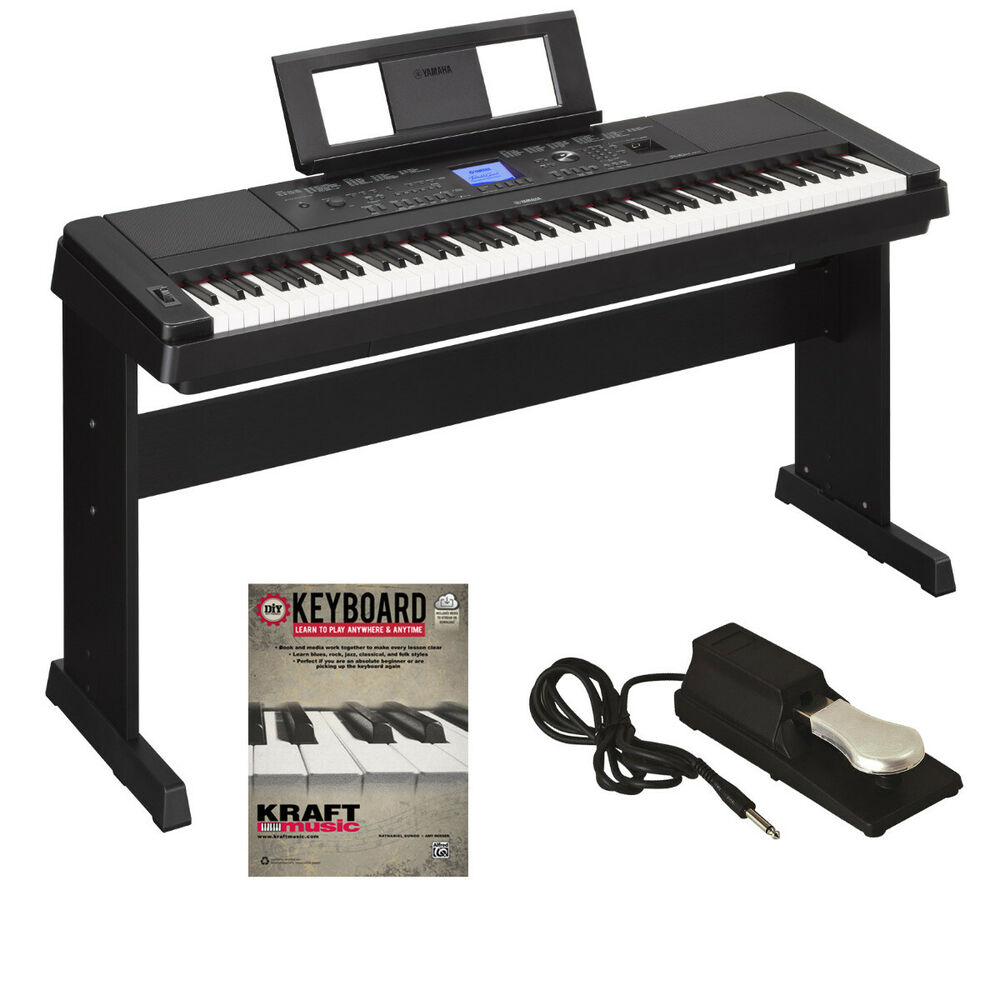 yamaha dgx 660 portable grand digital piano black bonus pak ebay. Black Bedroom Furniture Sets. Home Design Ideas