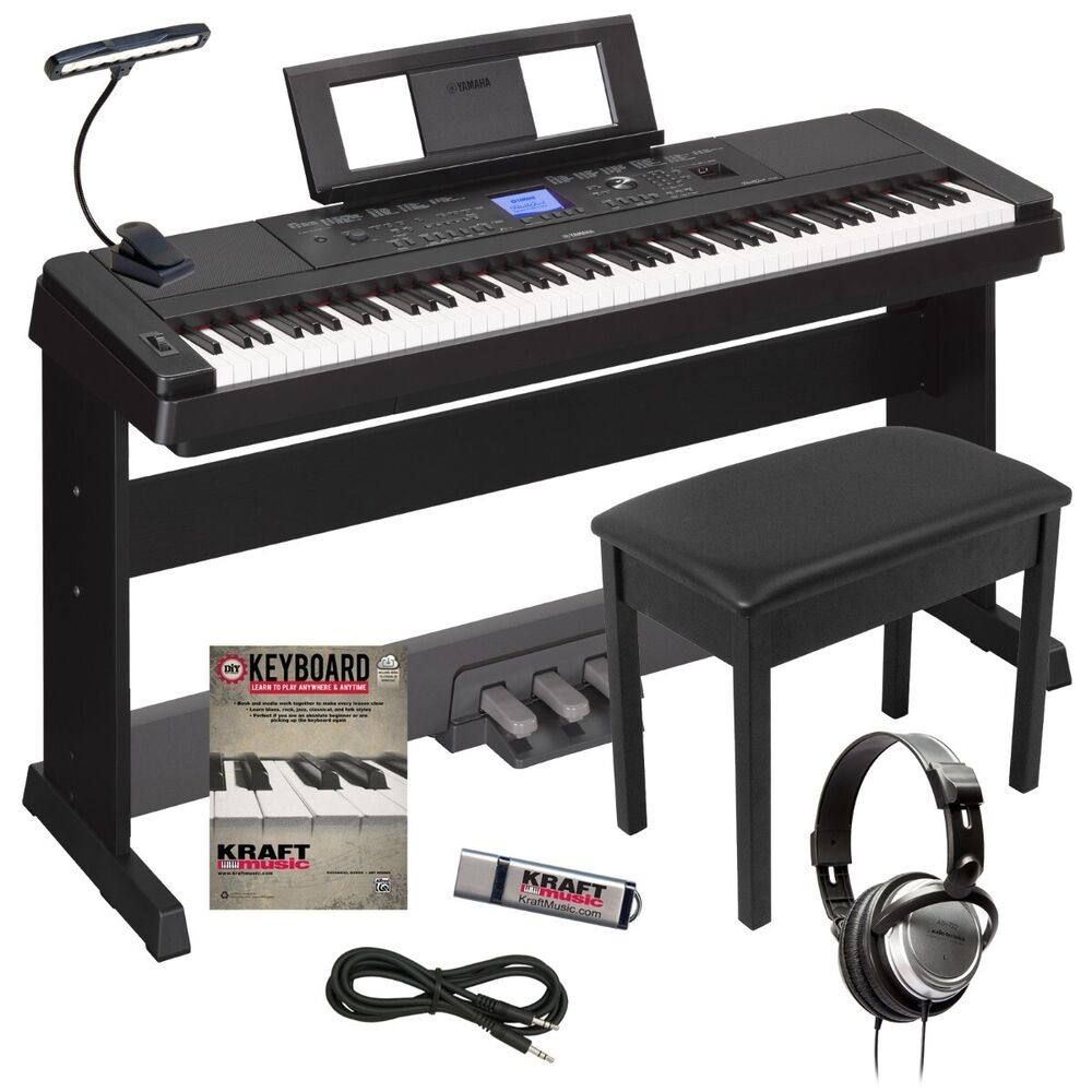 yamaha dgx 660 portable grand digital piano black. Black Bedroom Furniture Sets. Home Design Ideas