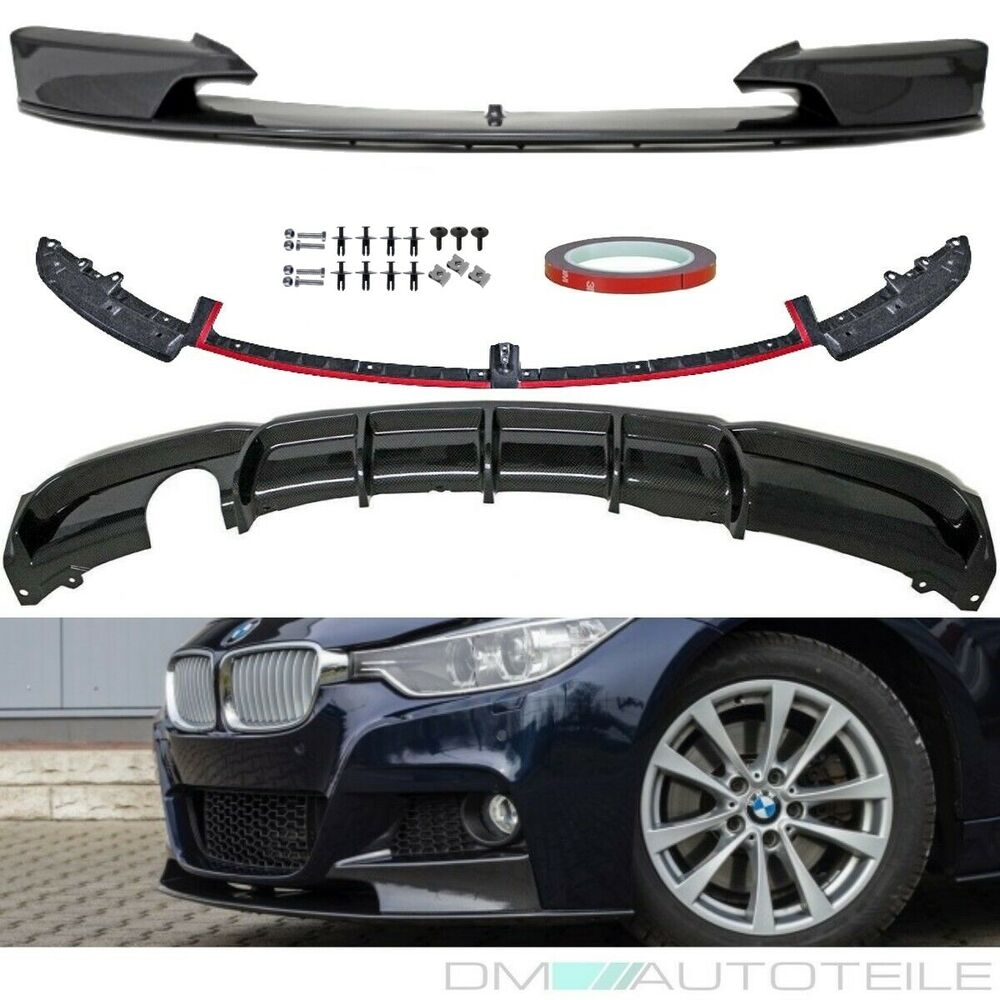 bmw f30 f31 spoiler diffusor splitter carbon bodykit. Black Bedroom Furniture Sets. Home Design Ideas