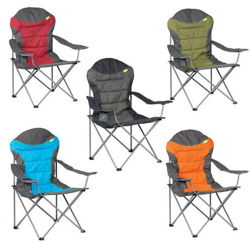 XL HIGH BACK PADDED DELUXE FOLDING CAMPING ARMCHAIR chair seat luxury