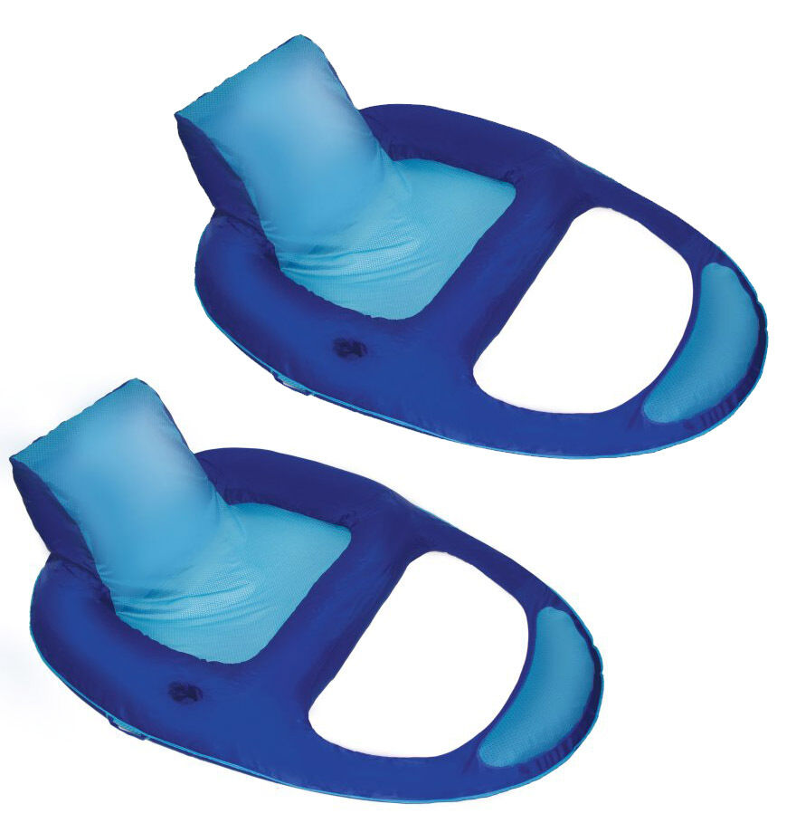 Swimways spring float recliner xl floating swimming pool - Swimming pool floating lounge chairs ...