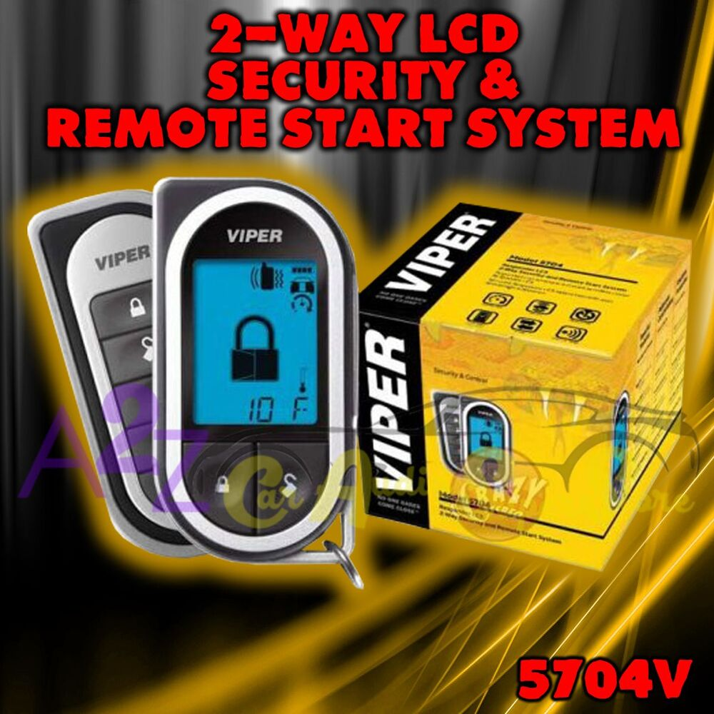 Viper Car Alarms Remote Starters And Keyless Entry How To Install A 5704 Alarm Start 2 Way System Lcd