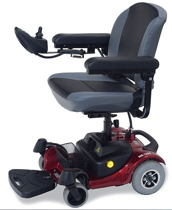 New c t m hs 1500 portable electric power chair red ebay for Mobility chair