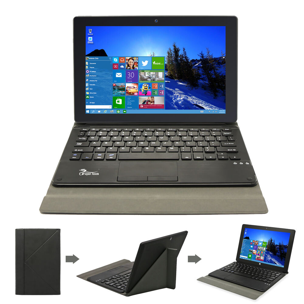 windows 10 10 1 ips tablet pc 2g 64gb dual cam intel cpu laptop keyboard case ebay. Black Bedroom Furniture Sets. Home Design Ideas