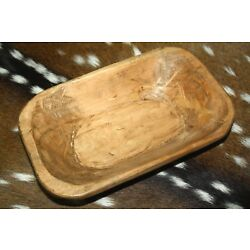 Kyпить * Carved Wooden Dough Bowl Primitive Wood Trencher Tray Rustic Home Decor 8-10