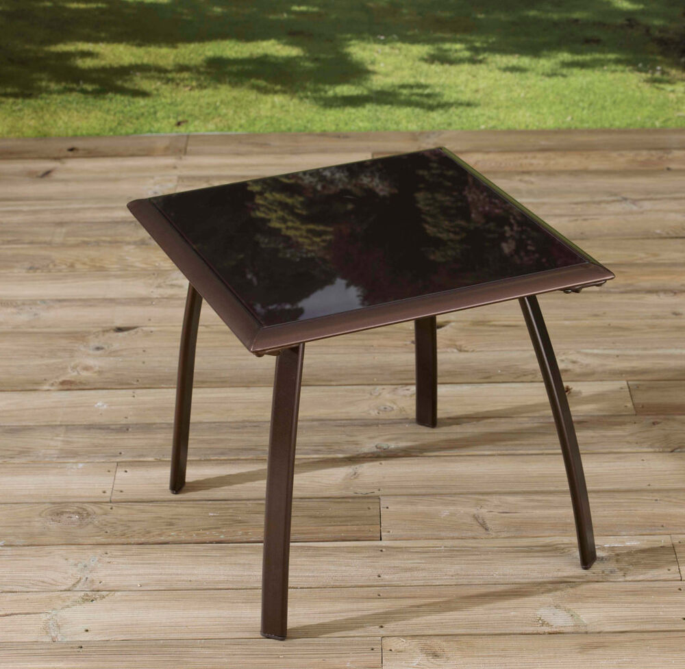 Pagoda square coffee table garden furniture ebay for Coffee tables on ebay