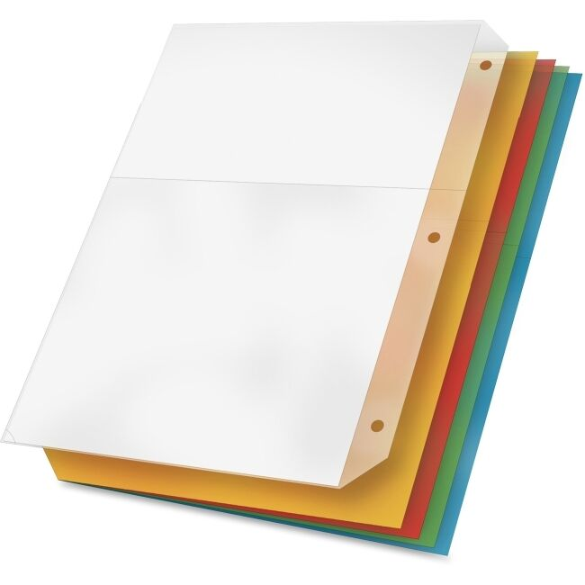 Cardinal Ring Binder Poly Pockets, 8-1/2 X 11, Assorted