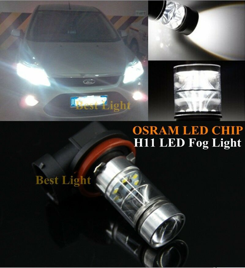 2x H11 H8 Canbus White Osram Led Fog Light Drl Bulbs For