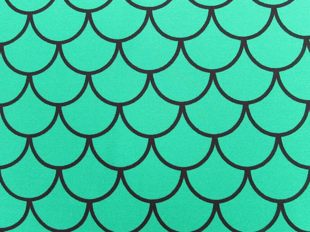 Mermaid scale spandex fabric fish scale print sold by the for Fish scale fabric