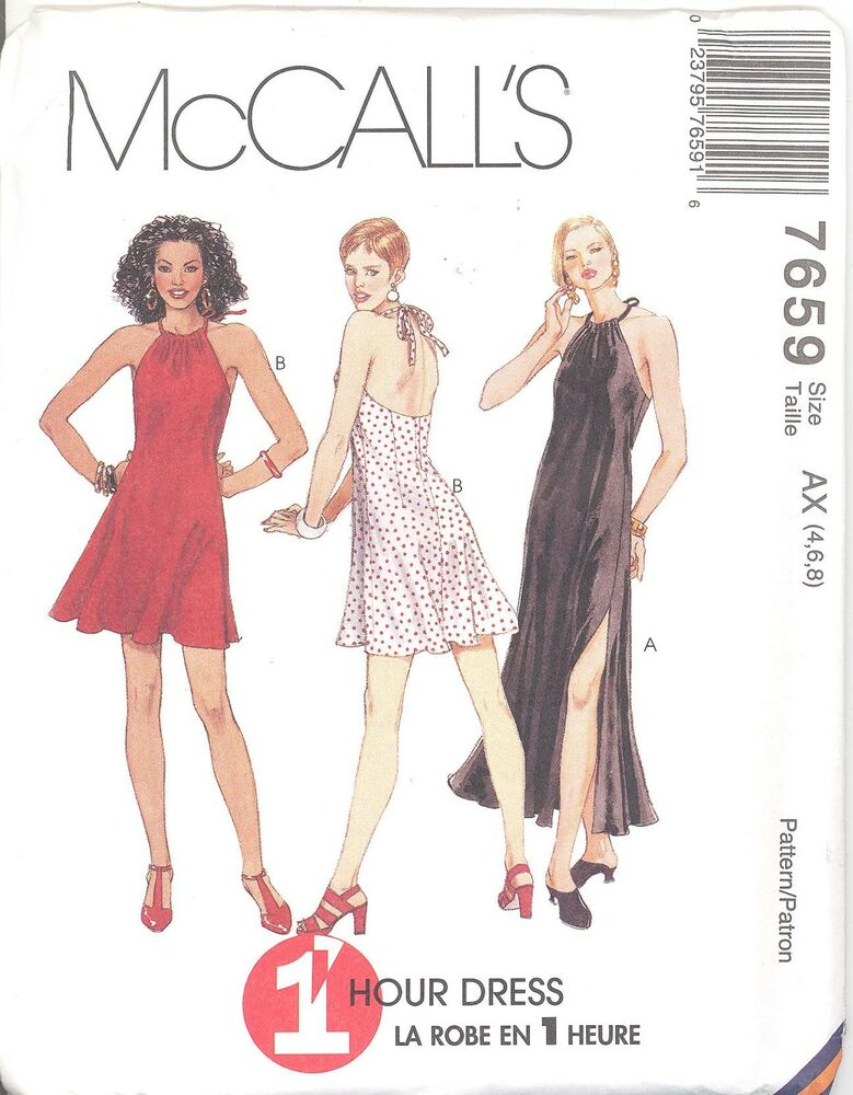 McCall\'s 7659 Misses\' Dress in Two Lengths Sewing Pattern | eBay