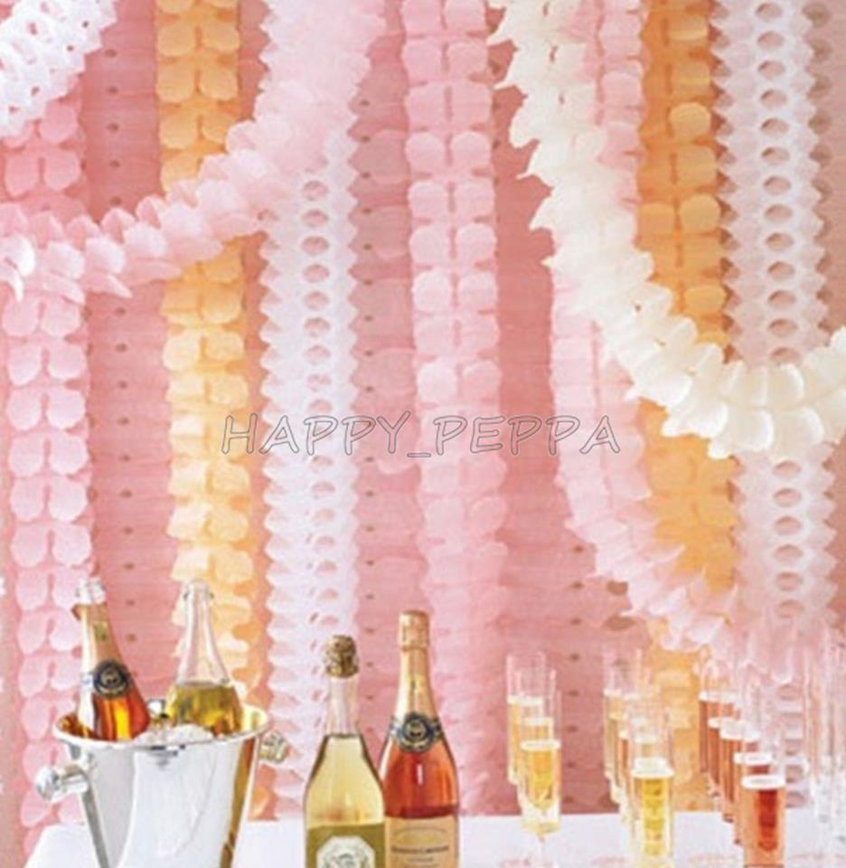 Hanging Decorations For Home: 3m Hanging Tissue Paper Clover Garland String Wedding Birthday Party Home Decor