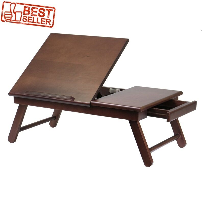 Bed Table Tray Desk Lap Laptop Lapdesk Wood Writing