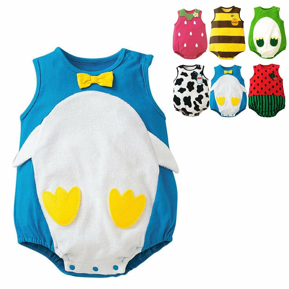 baby boy girl animal romper jumpsuit bodysuit onesie clothes ebay