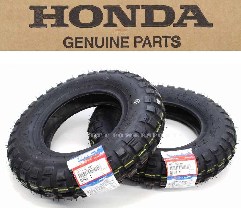 "Genuine Honda Tractor Grip Front Rear Tires Tire Set 3.50-8"" 79-99 Z50R Z50 #O01 