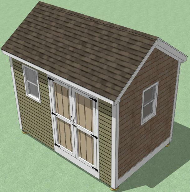 8x12 Shed Plans - How To Build Guide - Step By Step ...