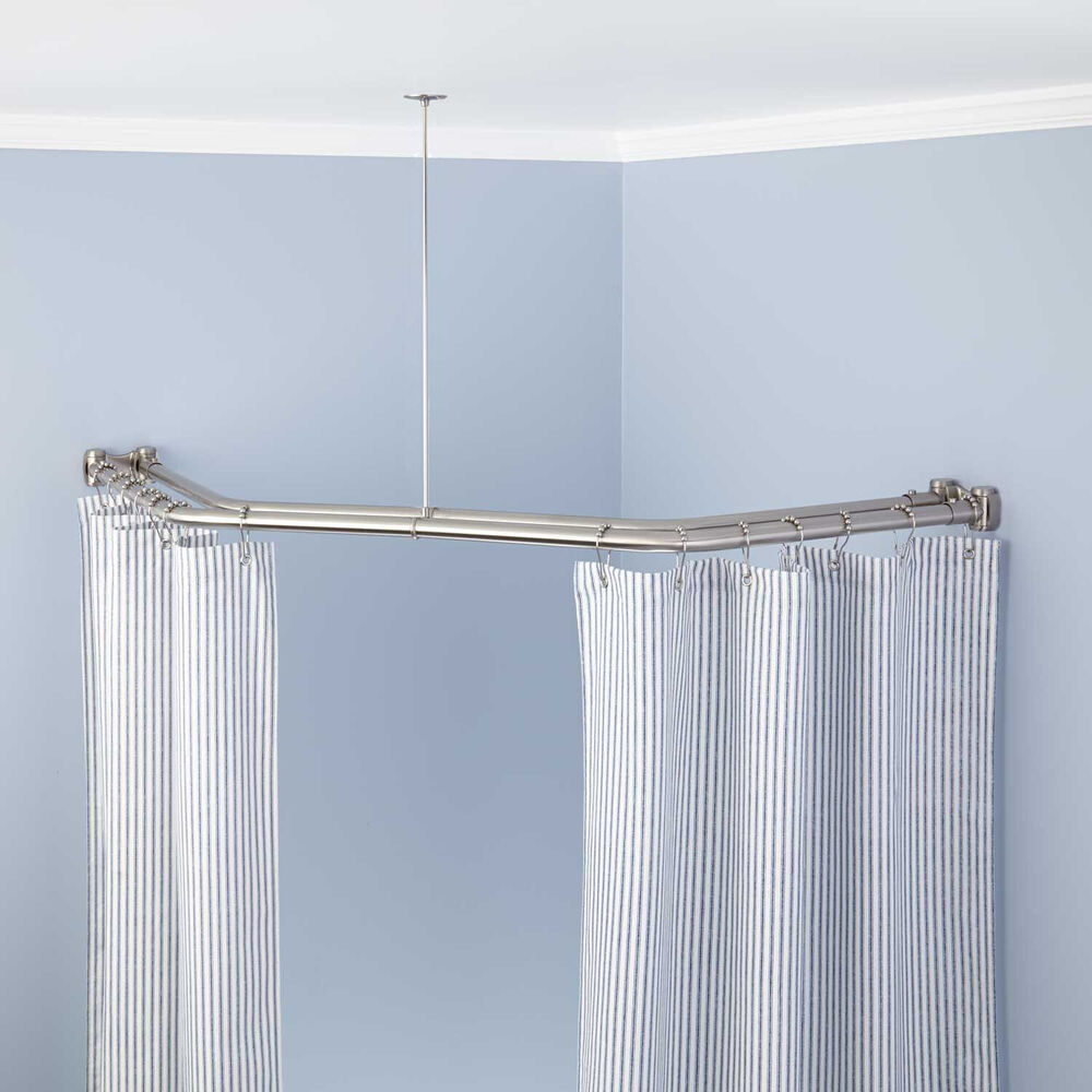 naiture brass neo angle double shower curtain rod in 5