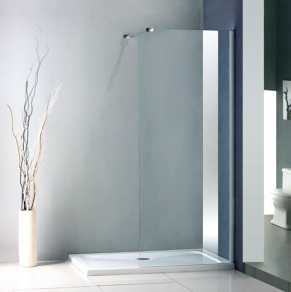 Walk in shower enclosure tray 1300mm x 900mm glass panel 760mm ebay - Walk in glass shower enclosures ...