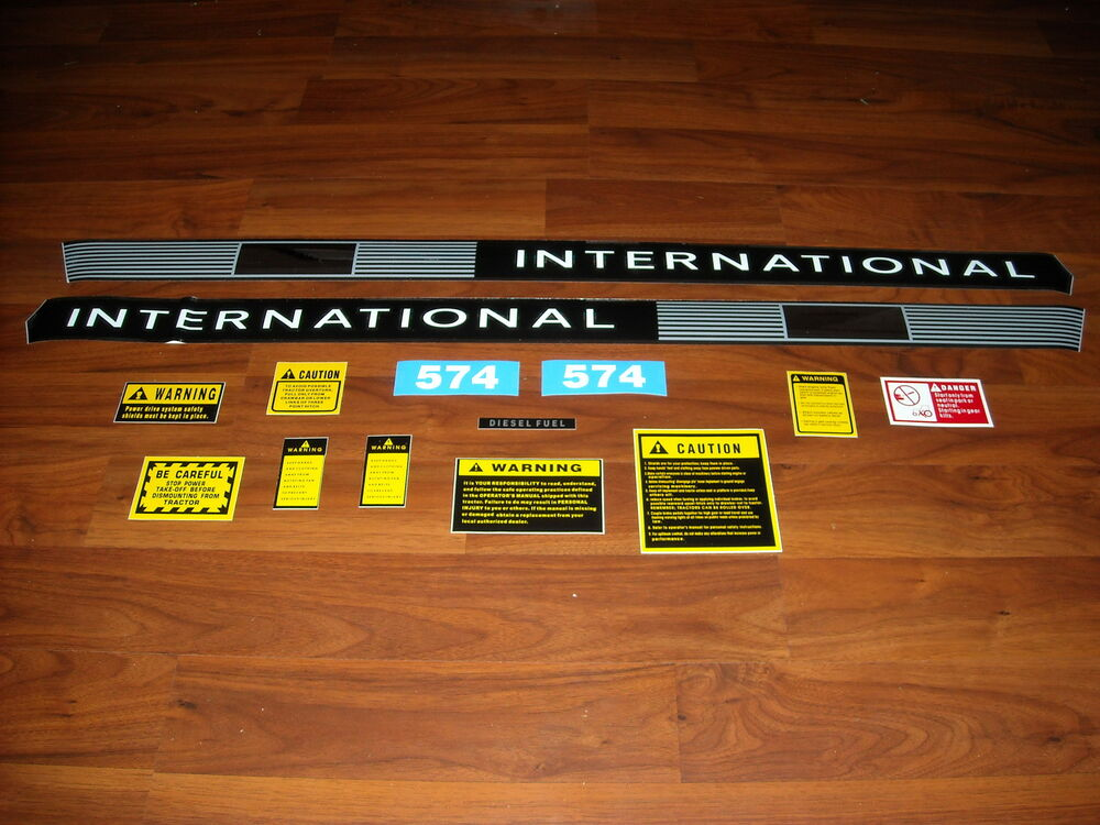 Case Tractor Decal Sets : Ih case international tractor decal set with caution