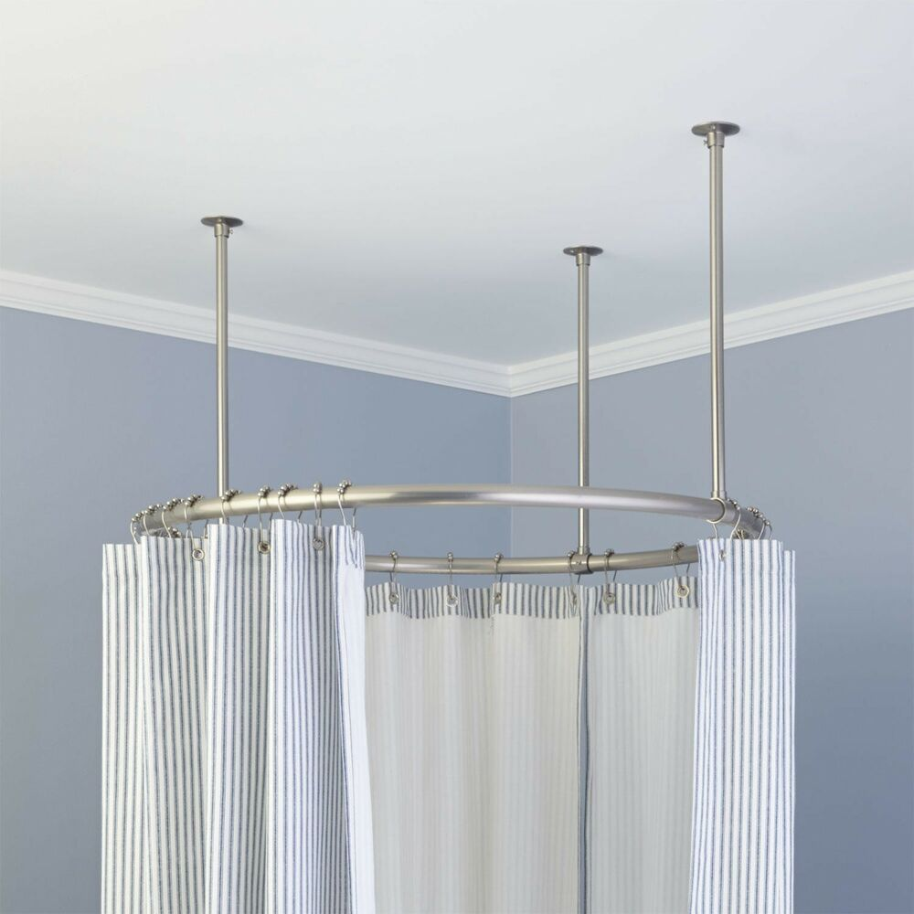 Naiture Brass 32 Quot Round Shower Curtain Rod In 4 Finishes
