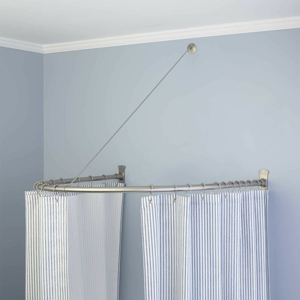 Naiture brass half oval shower curtain rod in 2 sizes and 4 finishes ebay