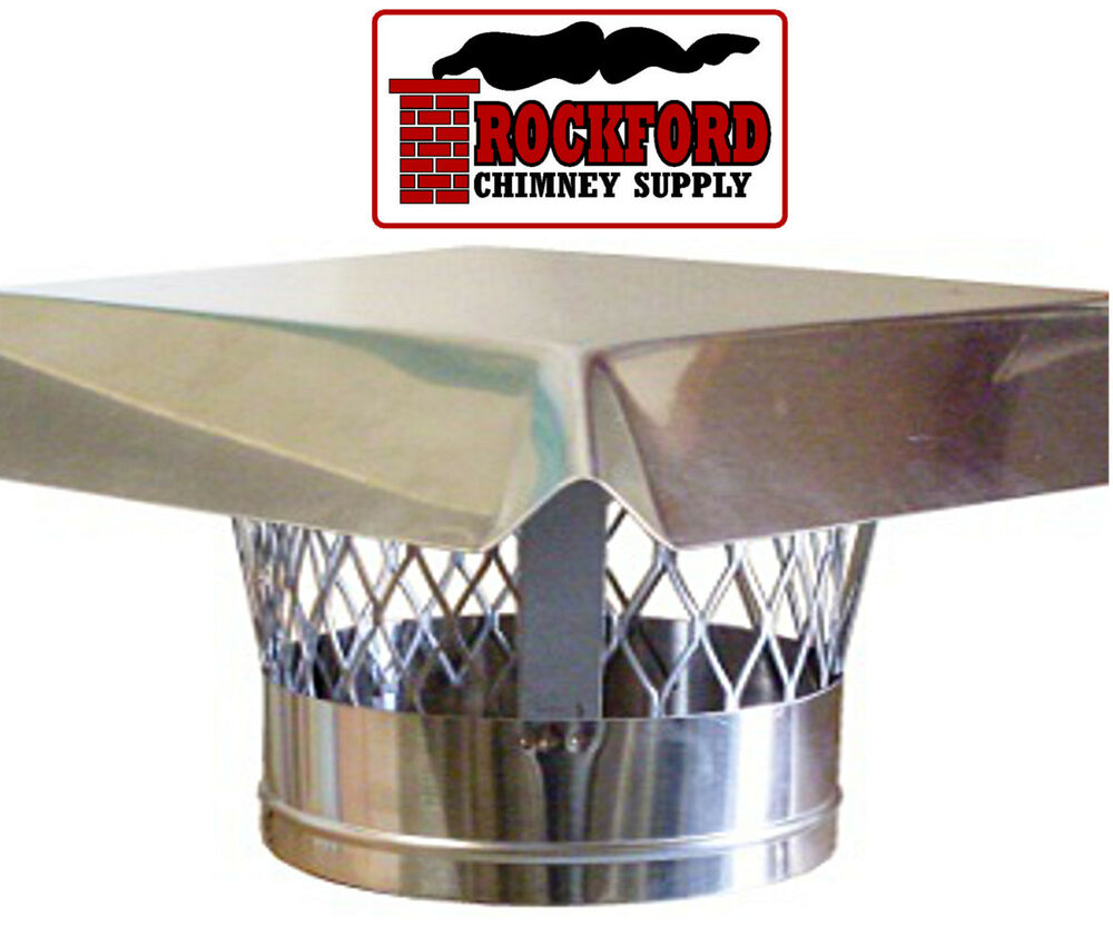 6 In Stainless Steel Chimney Rain Cap With Mesh Screen