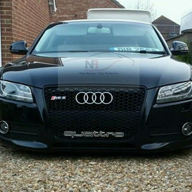 2007 2012 audi a5 s5 to rs5 front grill black edition. Black Bedroom Furniture Sets. Home Design Ideas