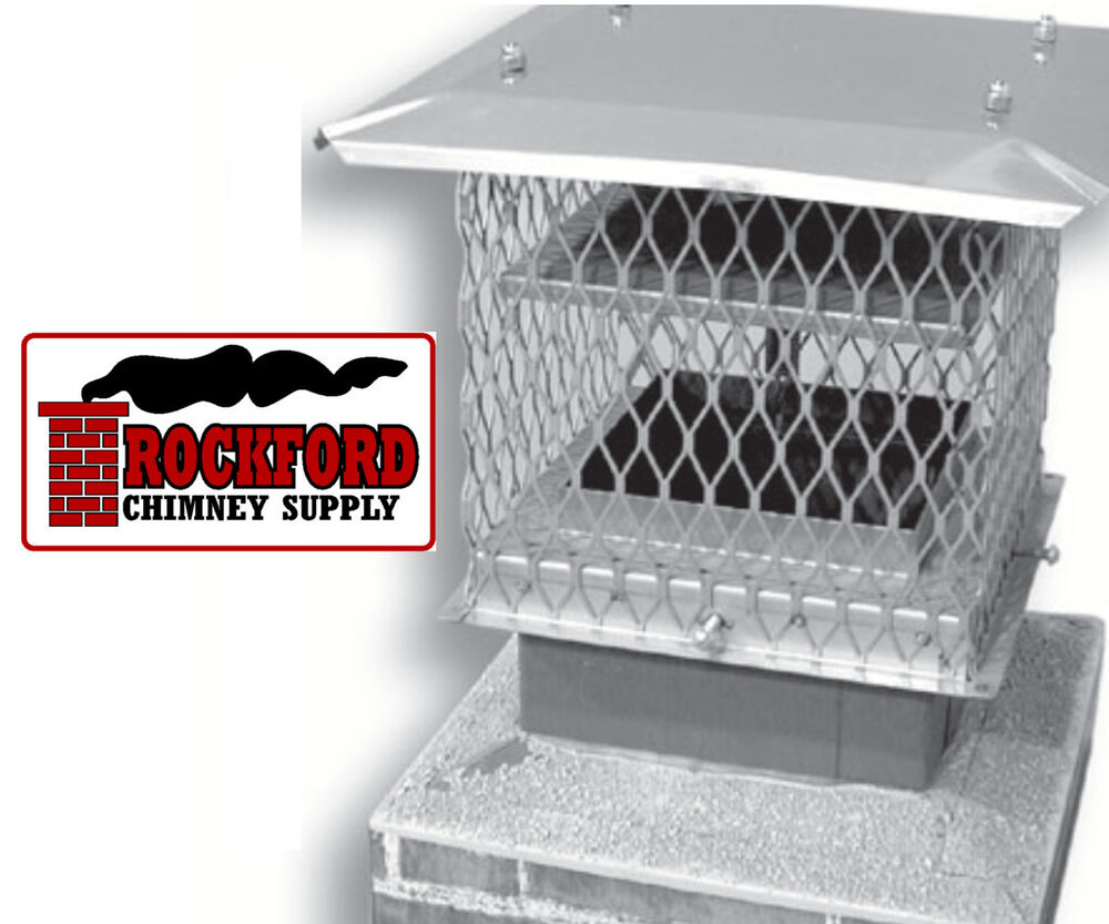 Deluxe Chimney Cap With Damper Chim A Lator 8 X 8 In Top