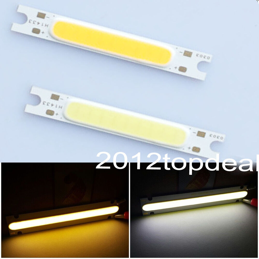 5 10x 3w white cob high power led stripe led light. Black Bedroom Furniture Sets. Home Design Ideas