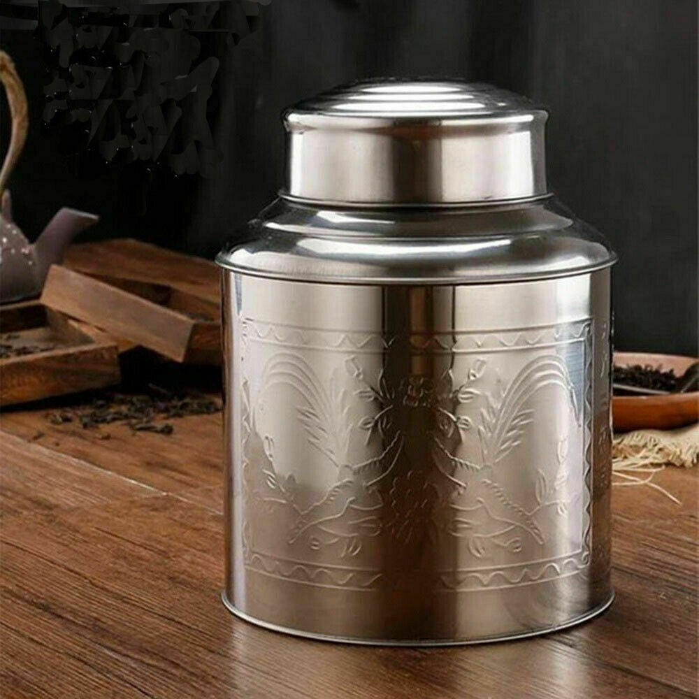 Small Stainless Steel Canister Caddy Loose Tea Container