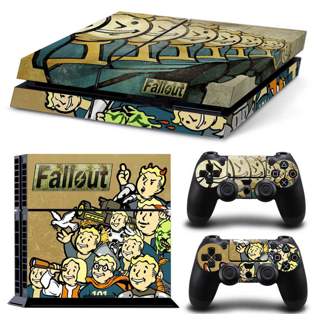 Design cover skin sticker for ps4 playstation console 2 controller fallout ebay - What consoles will fallout 4 be on ...