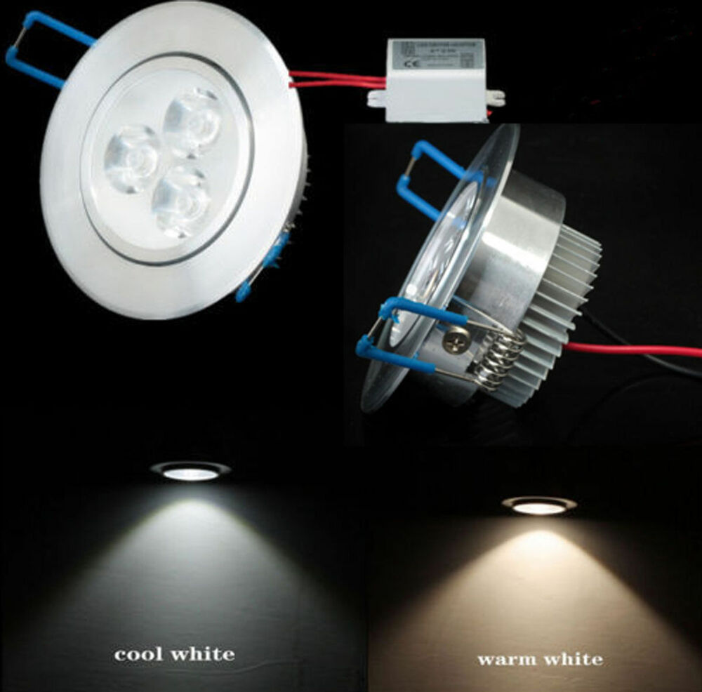 New 3W LED Recessed Ceiling Down Light Bulb Lamp Downlight