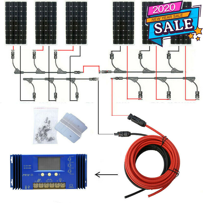 200w 300w 400w Off Grid Kit 100w Solar Panel With 1kw Pure